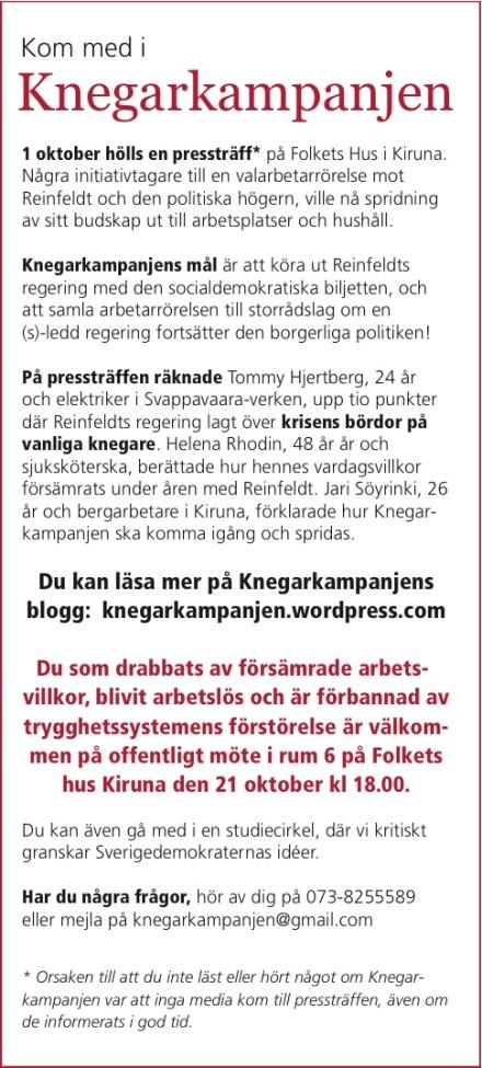 Annons i Kiruna annonsblad