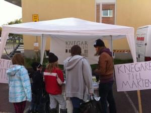Valbyrå på Kiruna marknad