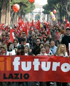 Demonstration i Italien