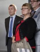 Maud Olofsson och Lars Erik Aaro, VD för LKAB