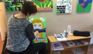 Tavelmålning i knegarlokalen