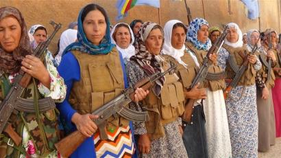 "Medlemmar ur ""mödrarnas Bataljon  i Kobanê. Photo: ANF"