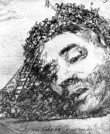 Den sovande jätten - målning av Goya
